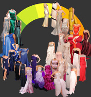 Many different dress colours to choose from